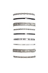 Forever 21 Abstract Etched Bangle Set