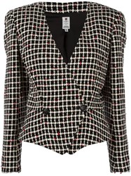 Emanuel Ungaro Vintage Boucle Knit Jacket Black