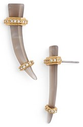 Women's Rachel Zoe 'Hale' Linear Stud Earrings Smoke Resin Horn