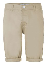 Topman Stone Long Length Stretch Skinny Chino Shorts