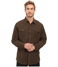 Kuhl Kompakt Long Sleeve Shirt Dark Roast Men's Long Sleeve Button Up Brown