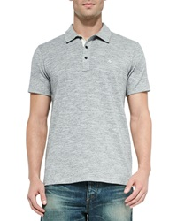 Rag And Bone Rag And Bone Standard Issue Short Sleeve Polo Gray
