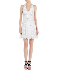 Nicole Miller Sleeveless Lace Dress White