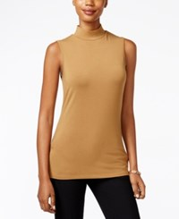 Charter Club Mock Turtleneck Shell Only At Macy's Salty Nut