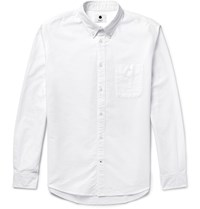Nn.07 New Derek Slim Fit Cotton Oxford Shirt White