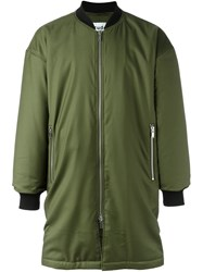 Etudes Long Bomber Jacket Green