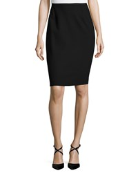 Michael Kors Fitted Pencil Skirt Black
