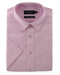 Double Two King Size Oxford Weave Shirt Pink
