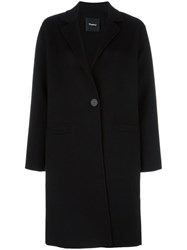Theory 'Peirette' Coat Black
