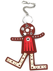 Marc By Marc Jacobs Studded Character Keyring Red