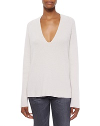 Helmut Lang Ribbed V Neck Merino Cashmere Sweater