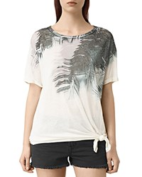Allsaints Guinea Heny Printed Knot Tee Chalk White