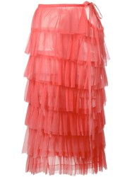 Comme Des Garcons Vintage Pleated Ruffle Dress Pink Purple