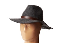 Michael Stars Oh My Darling Wide Brim Hat Heather Smoke Fedora Hats Gray