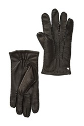 Cole Haan Handsewn Deerskin Leather Gloves Black
