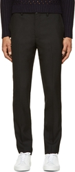 Marc By Marc Jacobs Black Tropical Wool Trousers