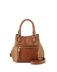 French Connection Ryan Metallic Faux Leather Crossbody Bag Nutmeg Gold
