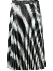 Comme Des Gara Ons Zebra Print Pleated Skirt Black