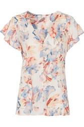 Joie Annite Printed Silk Top Clear