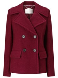 Windsmoor Boiled Wool Double Breasted Shirt Coat Bright Red