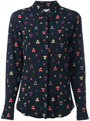 Chinti And Parker Heart Print Shirt Blue