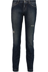 Dolce And Gabbana Distressed Mid Rise Skinny Jeans