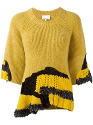 3.1 Phillip Lim Hand Crocheted Jumper Yellow And Orange