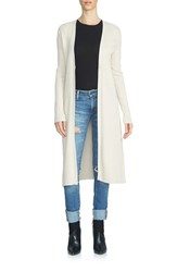 1.State Women's Ribbed Cotton Long Cardigan