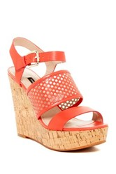 French Connection Devi Wedge Sandal Red