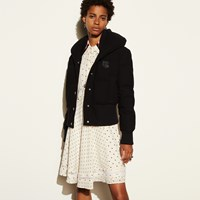 Coach Wool Short Puffer Black