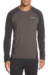 Craft 'Precise' Long Sleeve Training T Shirt Black Black Melange