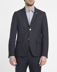 Gant Navy Hopsack Jacket Blue
