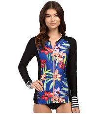 Next By Athena Tropic Fusion Off Shore Surf Shirt Multi Women's Swimwear