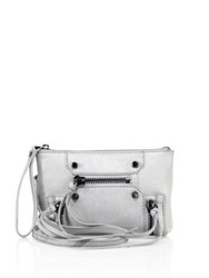 Botkier New York Logan Convertible Leather Wristlet Grey