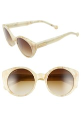 Women's Jonathan Adler 'Monte Carlo' 52Mm Cat Eye Sunglasses Bone