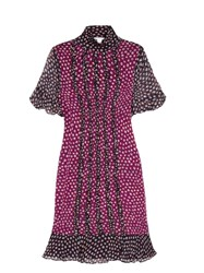 Diane Von Furstenberg Sebina Dress Purple Multi