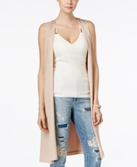 Guess Long Belted Duster Vest Rugby Tan