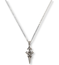 Seven London Dark Cross Dagger Pendant Sterling Silver