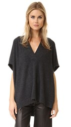 Vince Short Sleeve Oversized Sweater H. Carbon