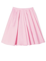 Carven Knee Length Pleated Skirt Pink Light Pink