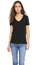 Stateside Slubbed V Neck Tee Black