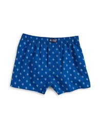 Original Penguin Print Cotton Boxers Coastal Blue
