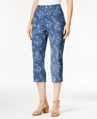 Styleandco. Style Co. Printed Capri Pants Only At Macy's Floridian Fleur