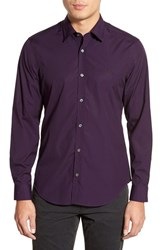 Men's Burberry Brit 'Cambridge Aboyd' Trim Fit Sport Shirt Dark Purple