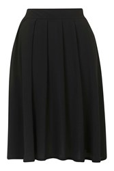 Wal G Chiffon Pleated Midi Skirt By Black