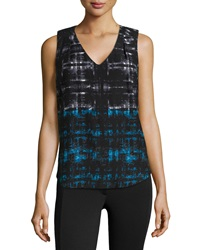 Dex Abstract Print Jersey Tank Top Imperial