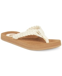 Roxy Crescent Braided Thong Sandals Women's Shoes Cream