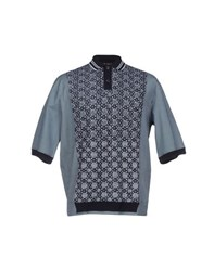 Antonio Marras Topwear Polo Shirts Men Dark Blue