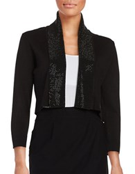 Calvin Klein Beaded Cropped Cardigan Black