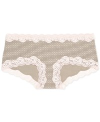 A Pea In The Pod Maternity Lace Trim Girl Shorts Geo Print